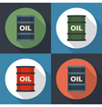 Barrel oil set icon vector image