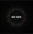 big data circular visualization with copy space vector image vector image