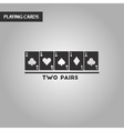 black and white style two pairs vector image vector image