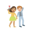 Boy And Girl In Love Walking Together vector image vector image