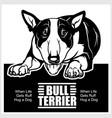 bull terrier - for t-shirt vector image vector image