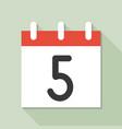 calendar and number calendar icon set flat design vector image vector image