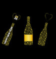 champagne bottle with bubbles explosion wine vector image vector image