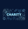 charity blue horizontal outline vector image