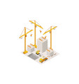 construction building a house isometric lifting vector image vector image