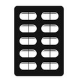 contraception pills icon simple style vector image