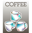 cool coffee poster template vector image vector image