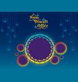 creative diwali festival offer banner design vector image vector image