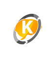 creative thinking letter k vector image