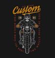 custom motorcycle vintage colorful print vector image vector image