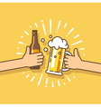 Design element Beer party festival vector image vector image