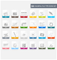 Design elements file type icons set vector image vector image