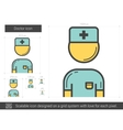Doctor line icon vector image