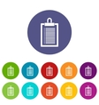Document plan set icons vector image vector image