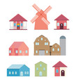 farm in village flat vector image