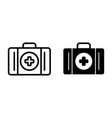first aid box line and glyph icon first aid kit vector image