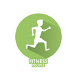 fitness people icon vector image
