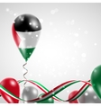 Flag of Palestine on balloon vector image vector image
