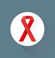 flat disease cancer ribbon symbol icon vector image