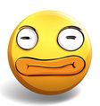 Funny face on yellow ball vector image vector image