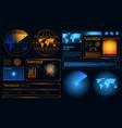 futuristic radar interface composition vector image vector image