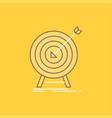 goal hit market success target flat line filled vector image
