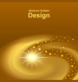 gold glowing space abstract design dynamic spiral vector image vector image