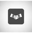 Handshake icon hake meeting business vector image vector image