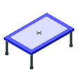 home trampoline icon isometric style vector image vector image