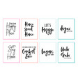 home wall art prints set home wall art prints vector image vector image