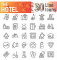 hotel line icon set service symbols collection vector image vector image