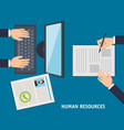 human resources set icons vector image vector image