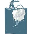 Iceberg Viking vector image vector image