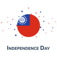 independence day of myanmar patriotic banner vector image