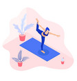isometric a girl in dancer pose vector image