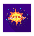 jackpot winnings at the casino the greatest win vector image