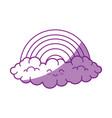 kawaii rainbow icon vector image vector image