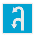 left turn arrow icon flat style vector image vector image