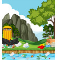 litter in the park vector image vector image