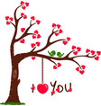 Love tree with i love you vector | Price: 1 Credit (USD $1)