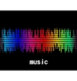 music colorful equaliser bar in black background vector image vector image