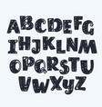 narrow font vector image vector image