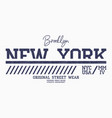 new york athletic t-shirt design brooklyn slogan vector image vector image