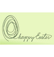 one line drawing easter egg vector image
