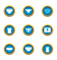 panties icons set flat style vector image vector image