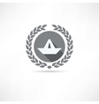 paper boat icon vector image