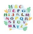 set of letters for children alphabet vector image