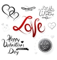 Set of St Valentines designs vector image vector image