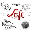 set st valentines designs vector image vector image