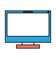 silhouette color sections of lcd monitor vector image vector image